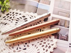 Novelty New Bullet Pen Ball Point Pen promotion pen 3 Colors Mixed 100pcs/lot Free Shipping(China (Mainland))