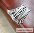 Free Shipping !! 30MM 250Pcs Silver Plated Metal Eye Pins Jewelry Findings & Components