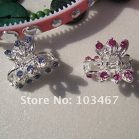 Sales Promotion!mixed new fashion alloy rhinestone hair claw /clip,hair accessory,wholesale