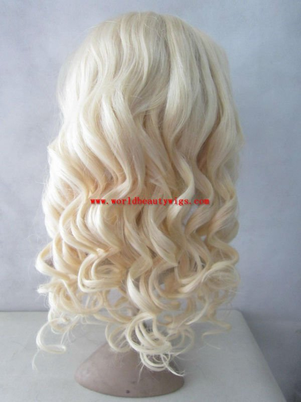 ( Gift + Free shipping) Stock 613#,wave,18'' ,Brazilian hair full lace wig with top quality(China (Mainland))