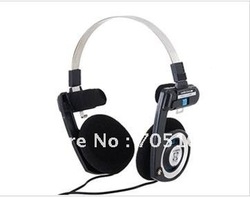 FREESHIPPING 3.5mm Jack On-Ear Stereo Headphone for MP3/ MP4/ PC (Black)(China (Mainland))