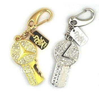 Key USB Stick, 1GB-16GB, Flash Memory Disk, Gift USB, 30PCS/ Lots, Real Capacity, Free Shipping!