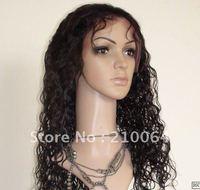 "AAA quality 16"" 100% virgin brazilian  hair full lace wigs baby hair free shipping"