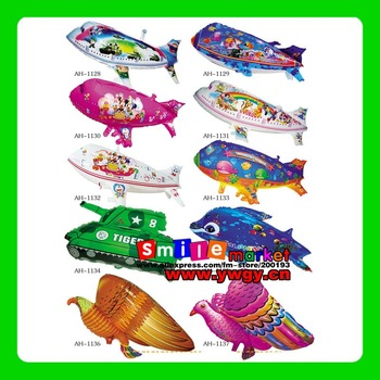 Factory Outlets Freeshipping DHL/EMS/FEDEX mix styles wholesale 500pieces/lot  special airship shape foil balloons