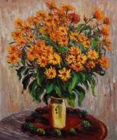 Drop shipping hot Claude Monet's Vase of Chrysanthemums canvas oil paintings reproduction,handpaint oil paintings artwork