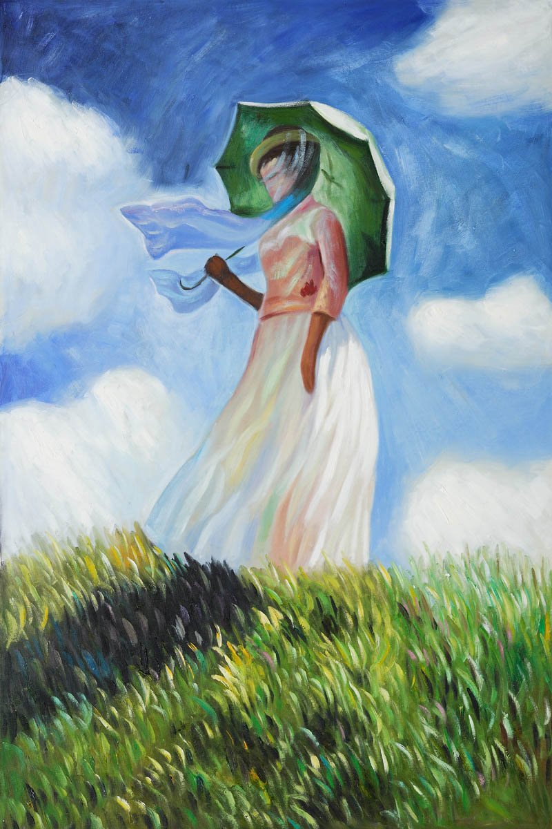 Woman Umbrella Monet Claude Monet's Woman With