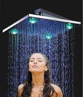 300*300*8mm brass chrome led head shower