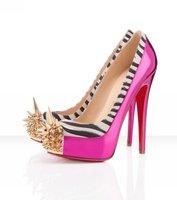 NEW  spring ladies high heel wedding pumps Classic Brand Style bridal Pumps PU Leather Stiletto pumps fashion platform shoes