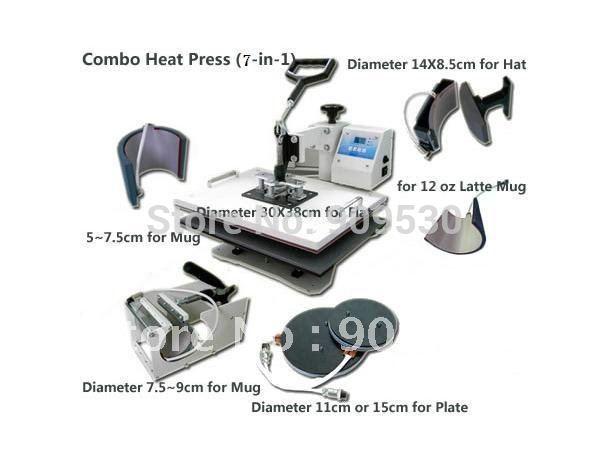 7 in 1 combo heat press machine