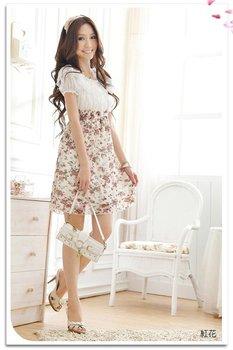 Free Shipping/2012 NEW/Chiffon/sweet/broken beautiful/dress/two color/chiffon skirt/miniskirt/ RG120253
