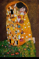 New decorate Portrait oil Klimt - The Kiss (Fullview) canvas oil paintings reproduction,handpainted oil painting by Gustav Klimt
