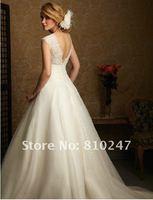 2012 new double-deep V lace vest waist floral princess panniers small trailing bridal