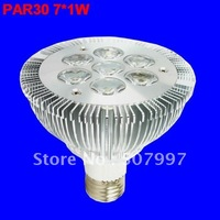 7W PAR30 led light E27 led lamp 7*1W high lumens 45mil BridgeLux chip Low PRICE Wholesale BILLIONS-LAMP