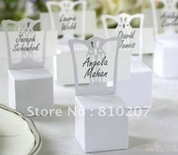 Free Shipping  50pcs/lot White Chair  Favor boxes Gift Box   for  wedding /Baby shower