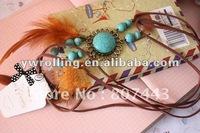 Romany charm feather necklace jewelry dream catcher