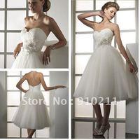 Flattering Little White Dresses Short Party 2012 Bridal Gowns