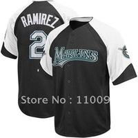 Majestic Hanley Ramirez Florida Marlins Wheelhouse Jersey - #2 Black,usa baseball jersey sale