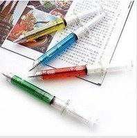 Promotion Novelty injection needle shaped ball pen, (20pcs/lot), Free Shipping