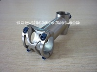 Titanium Bike Stem 31.8mm x 70/80/90/100/110/120mm with Blue Titanium Bolts M5 x 16