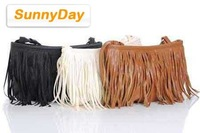 Сумка через плечо fashion pu Leather Weave Tassel handbags for women soft shoulder bags for ladies