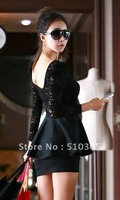 Женское платье 2013 spring/autumn lace patchwork slim V-neck long sleeve one-piece women sexy dress 3392FWG