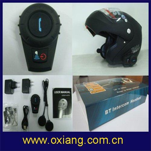 promotion-500M intercom biker-to-biker bluetooth motorcycle (ski) helmet headset &TTS& Full Duplex Communication(China (Mainland))