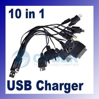 Multi 10 in 1 Universal Multi-Function Cell Phone Game USB Charging Cable Charger line Free Shipping