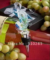 "Free shipping Europe ,Murano Art Deco Collection Dolphin Wine Stopper (""Name Your Price"" Option) 100PCS/LOT, wholesale or retail"