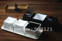 Three Piece china-Cup Creative Keyboard Keys Design  Black Color IT Geek's Favorite