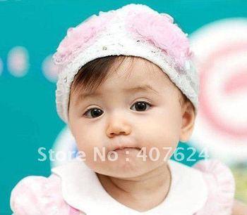 lovely style lace baby headwear, Korea style baby headband, free shipping