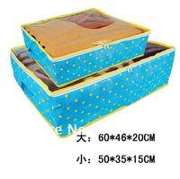 Hot Sale ! Star Pattern Non-woven  Fabric   Storage Case Storeag  2 Storage  Boxes