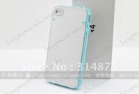free shipping Ultra thin 2 colors Soft+hard Newtons Brand transparent cover New case for iphone 4g 4S