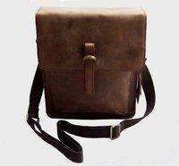 FREE SHIP-Hot Men's Brown 100% Real Leather shoulder bag Messenger Bag Briefcase M133#