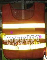 5pcs road warning vest reflective construction traffic overalls vest jacket uniform sanitation reflective vest