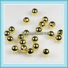 500pcs/lot 6mm Gold Plated round ball metal spacer beads P77