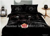 500 thread count cotton black panther animal pattern bedding sets home textile quilt/duvet covers sets 5pc 100% cotton comforter