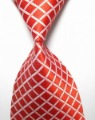 1 piece Free shipping wholesales Red White Stripe Silk Classic Woven Tie Necktie for man