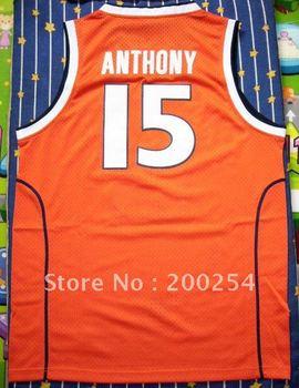 (can mix player)!!!!Basketball Jersey Carmelo Anthony #15 Syracuse University jersey