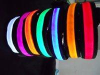 Free shipping whole 20pcs/lot flashing LED dog collar, LED pet collar,Flashing dog collar