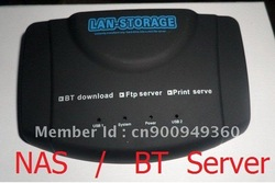 Free shipping NETWORK STORAGE NAS USB PRINT SERVER BT DLNA DDNS SAMBA(China (Mainland))