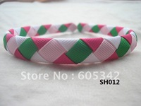 Preschool  Woven Headband: 1/2 inch 100  Pcs/Lot M2MG -I Love Soccer U Pickup  for Girls+ EMS  Free Shipping