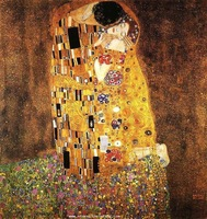 100% handpainted High quality Gustav Klimt painting reproduction The kiss Klimt089