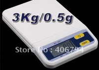 Electronic 3000g Digital Scale 3Kg x 0.5g Balance Weight Scale Food Kitchen