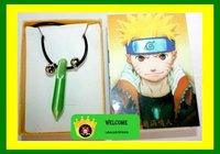 Free Shipping NARUTO ANIME COSPLAY COSTUME Uzumaki Tsunade Crystal Necklace Green