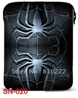 "Spider pattern 9.7"" Neoprene waterproof notebook Laptop Sleeve bag case for ebook tablet PC-20"