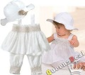 Summer  Flower  Princess Short Pants+Tees +Hats Clothing Set Suit For Infant Kids Baby Girls