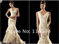 Princess fishtail high-grade full lace texture qualities wedding