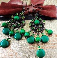 MIX(Min.$18) wholesale +retro fashion  spring  flower lady's alloy earring FE-010