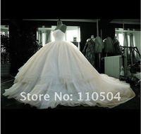 The luxurious new strapless trailing wedding custom super details Tulei Si diamond