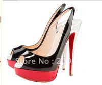 free shipping slingbacks women heels, platform women fashion shoes, high heel red sole women shoes M056